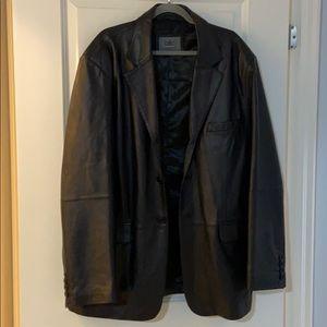 Men's Black Leather Blazer/Jacket